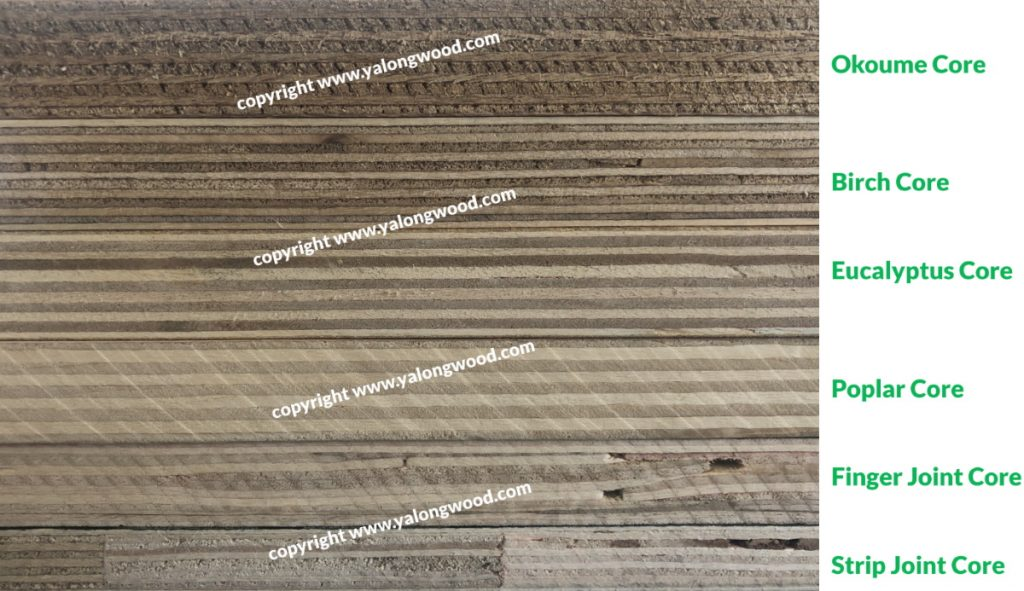 plywood core types