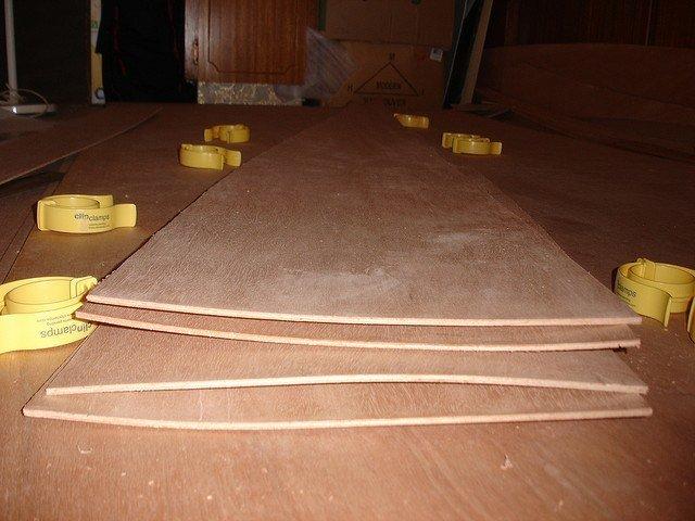 warped plywood